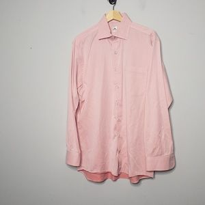 Peter Millar Shirt Pink Size Medium Long Sleeve